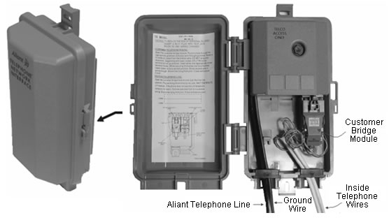 bell aliant for your home phone services Wiring Outside Telephone Box here\u0027s an example of a nid